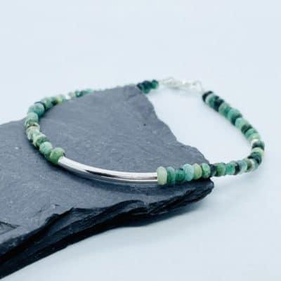 Emerald Bead Bracelet