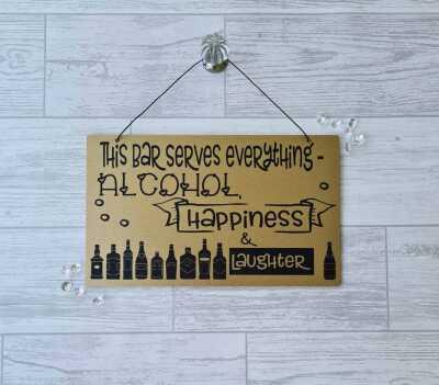 bar sign gold