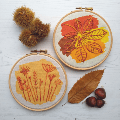 Autumn bundle of two embroidery kits