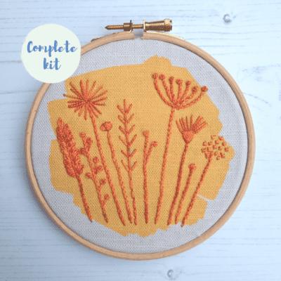 Autumn meadow embroidery kit