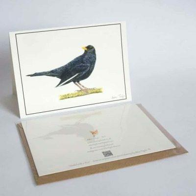 Blackbird greeting card by Alan Taylor Art