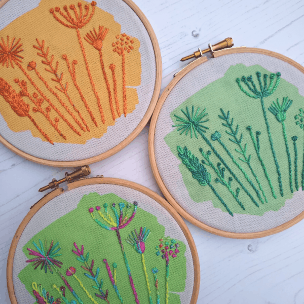 Meadow embroidery kit collection