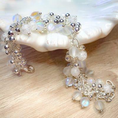 glass beadwork bracelet