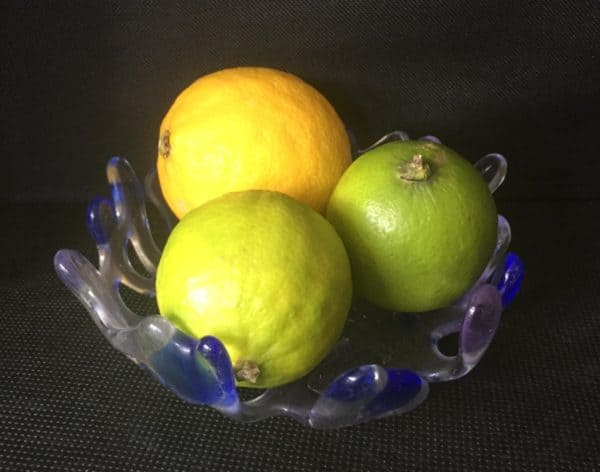 fused glass bowl