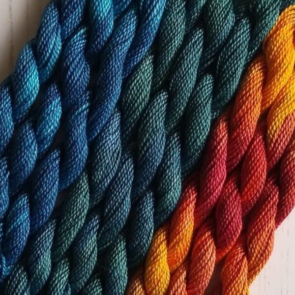 Garden birds embroidery kits collection - threads