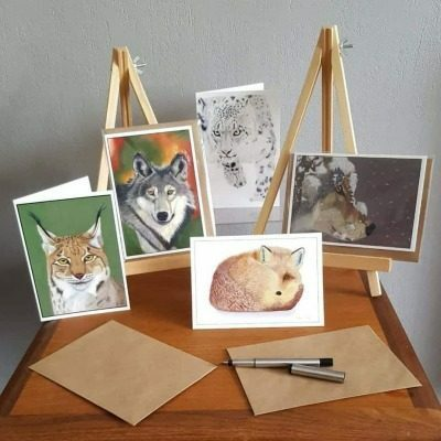 Wildlife collection of greeting cards by Alan Taylor Art