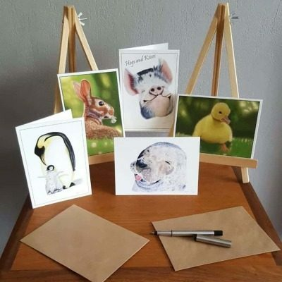 Cute animal collection of greeting cards by Alan Taylor Art
