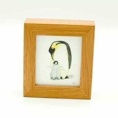 Penguin miniature box framed art by Alan Taylor Art