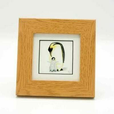 Penguin small framed art by Alan Taylor Art