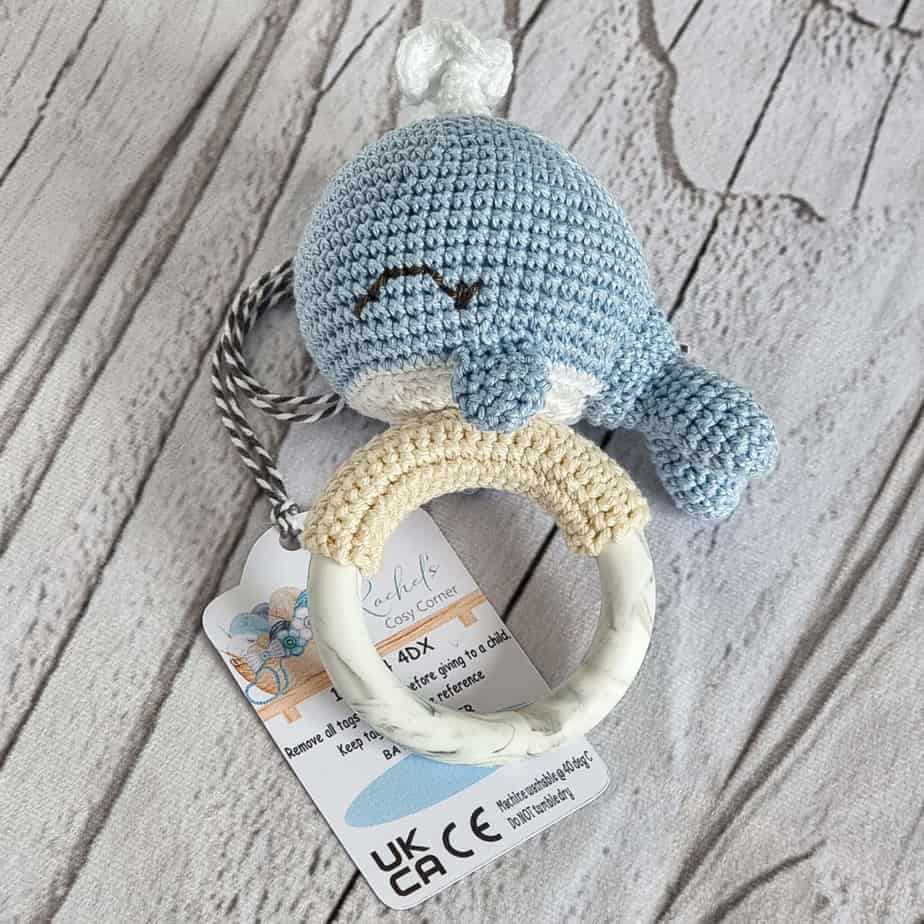Sky Blue Baby Rattle Teether