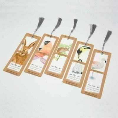 Wildlife illustrated bookmark by Alan Taylor Art